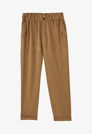 MIT STRETCHBUND  - Trousers - brown