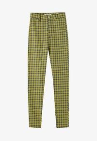 PULL&BEAR - MIT PRINT - Pantalon classique - yellow - 5