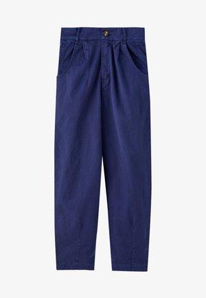 WEITE BUNDFALTEN - Trousers - blue