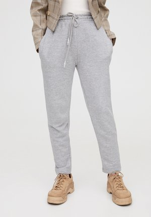 MIT GERADEM SAUM  - Pantalon de survêtement - grey