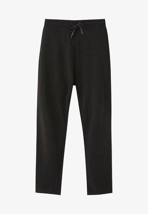 MIT GERADEM SAUM  - Pantaloni sportivi - black