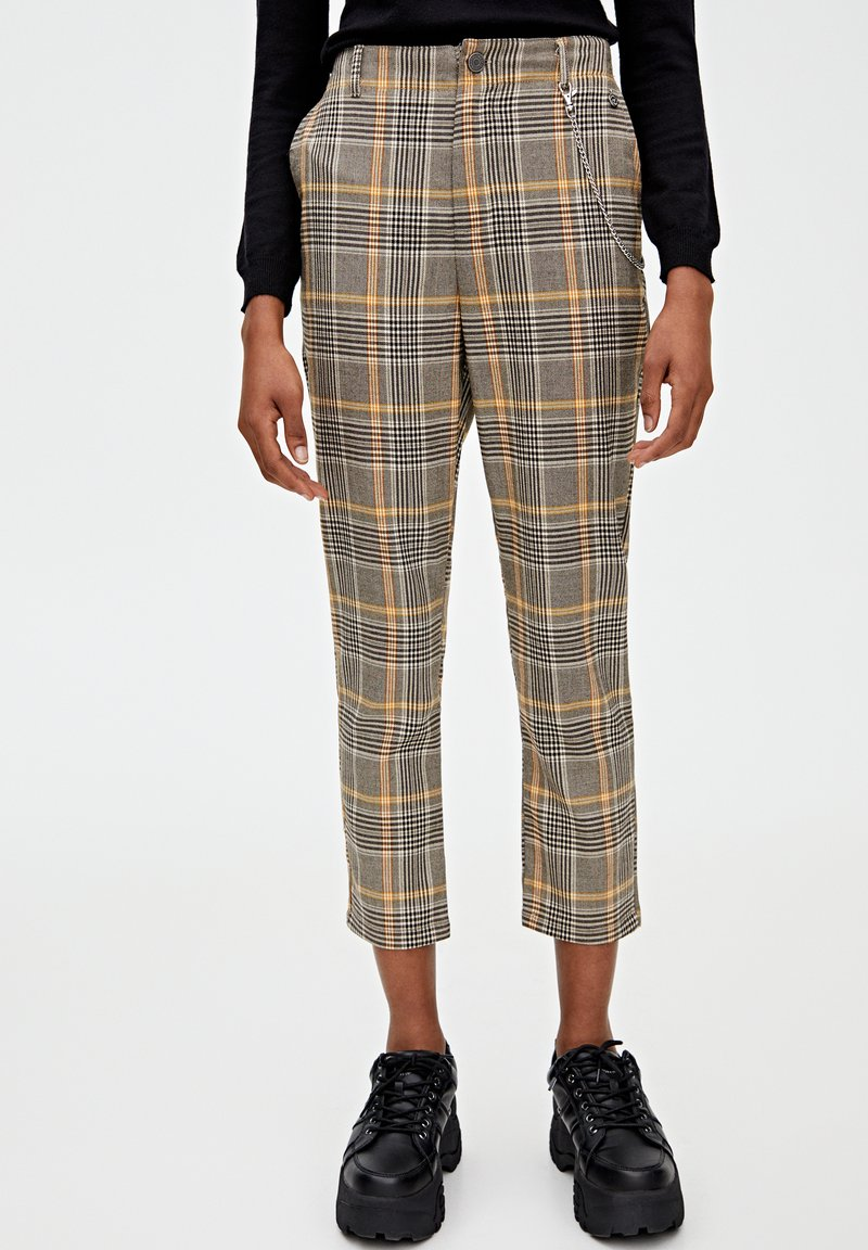 PULL&BEAR - Trousers - yellow