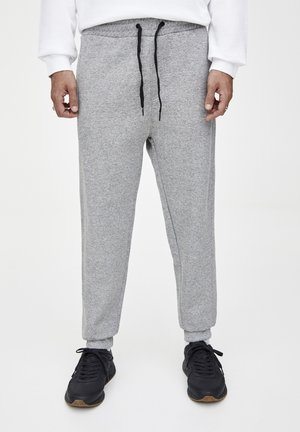 MIT ZIERNÄHTEN - Pantaloni sportivi - grey