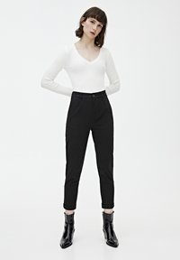 PULL&BEAR - Chino - mottled black - 1