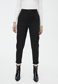 PULL&BEAR - Chino - mottled black - 0