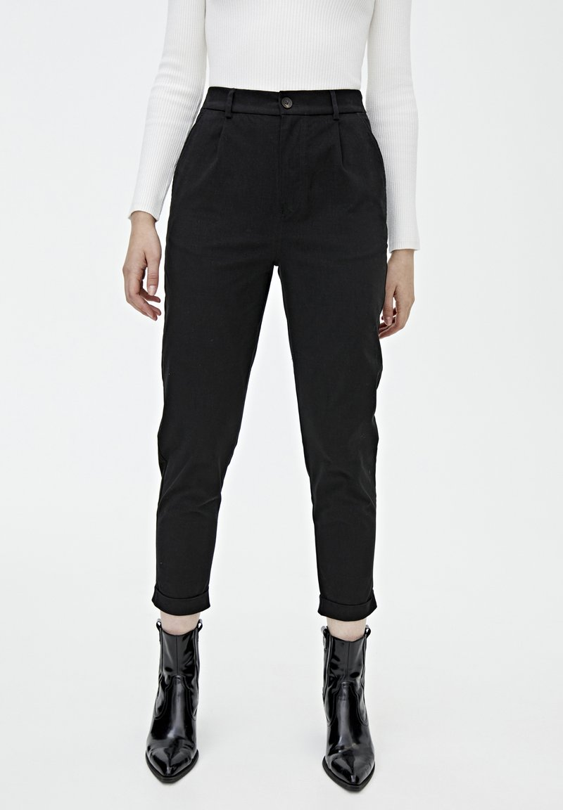 PULL&BEAR - Chino - mottled black