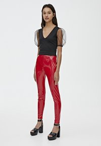 PULL&BEAR - Trousers - red - 1