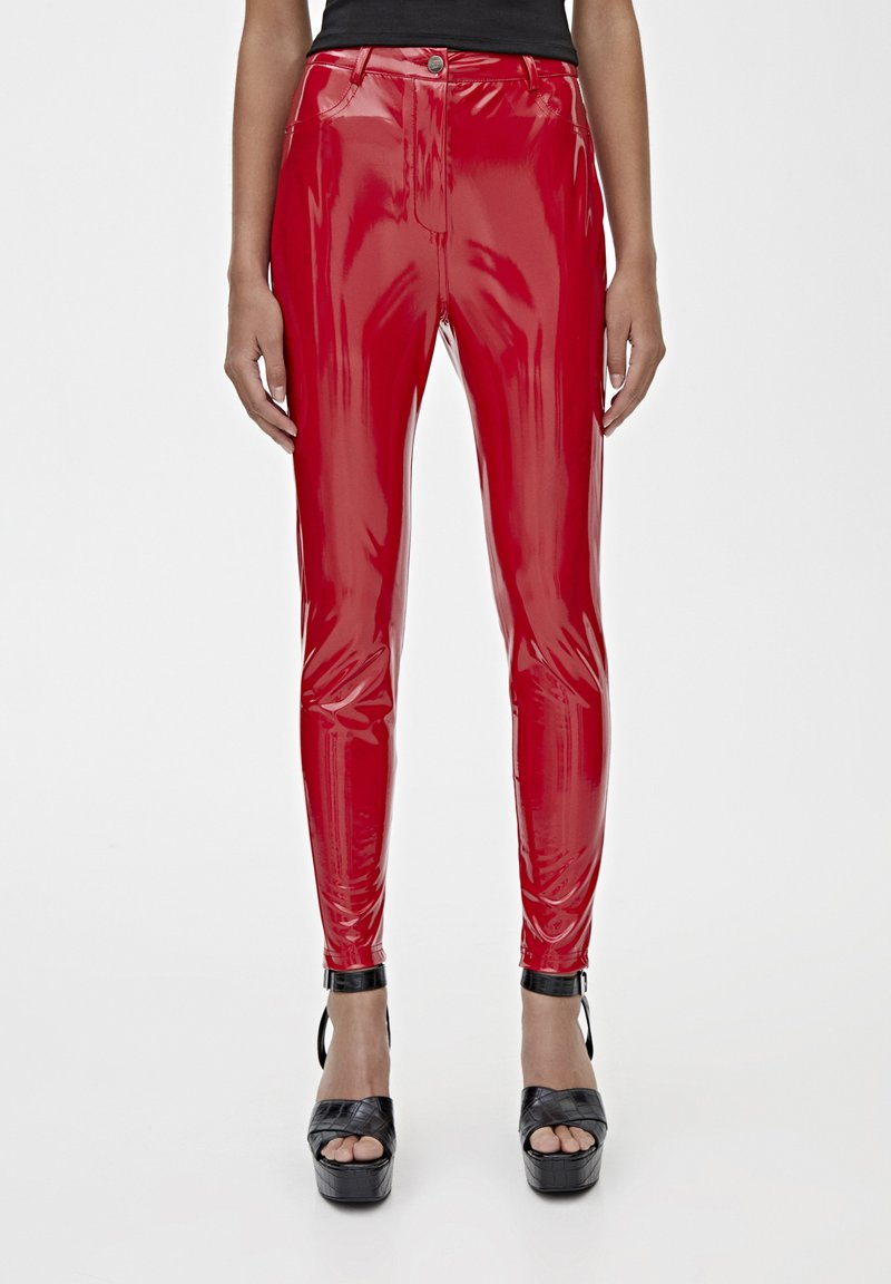 PULL&BEAR - Trousers - red