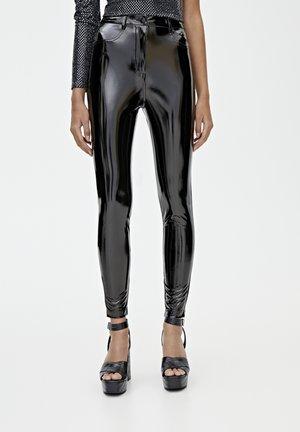 Pantalon classique - mottled black