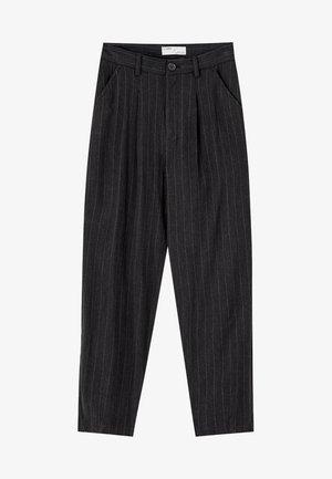 MIT BUNDFALTEN - Pantalon classique - black