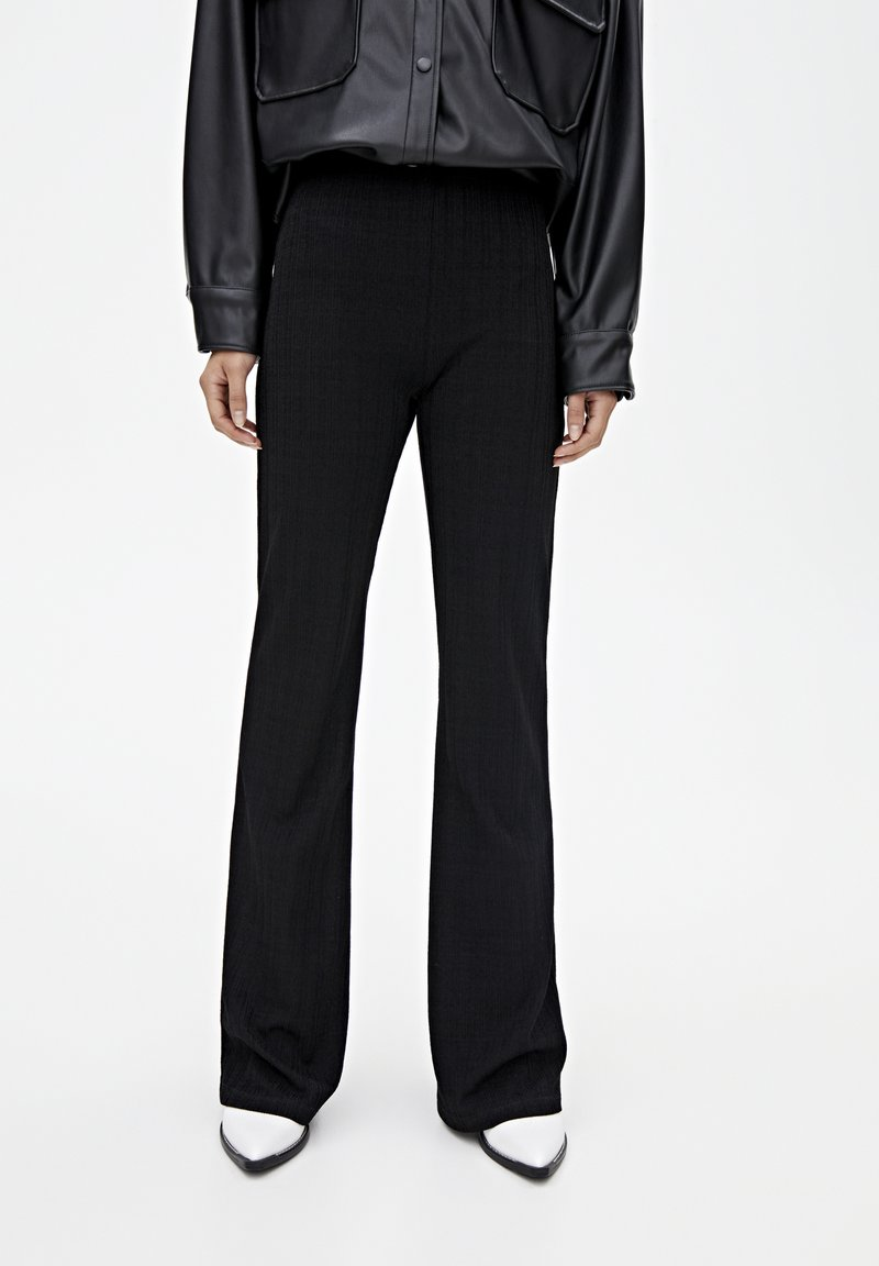 PULL&BEAR - Trousers - black
