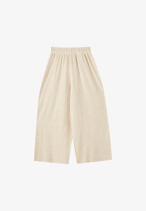 MIT TEXTUR  - Kalhoty - beige