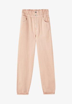 MIT BREITEM GUMMIZUG - Jeans Tapered Fit - rose gold
