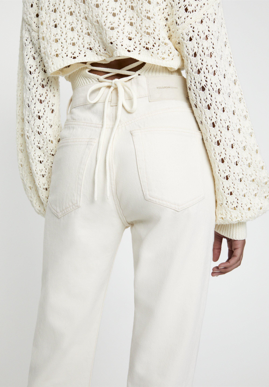 PULL&BEAR Jeansy Straight Leg - beige