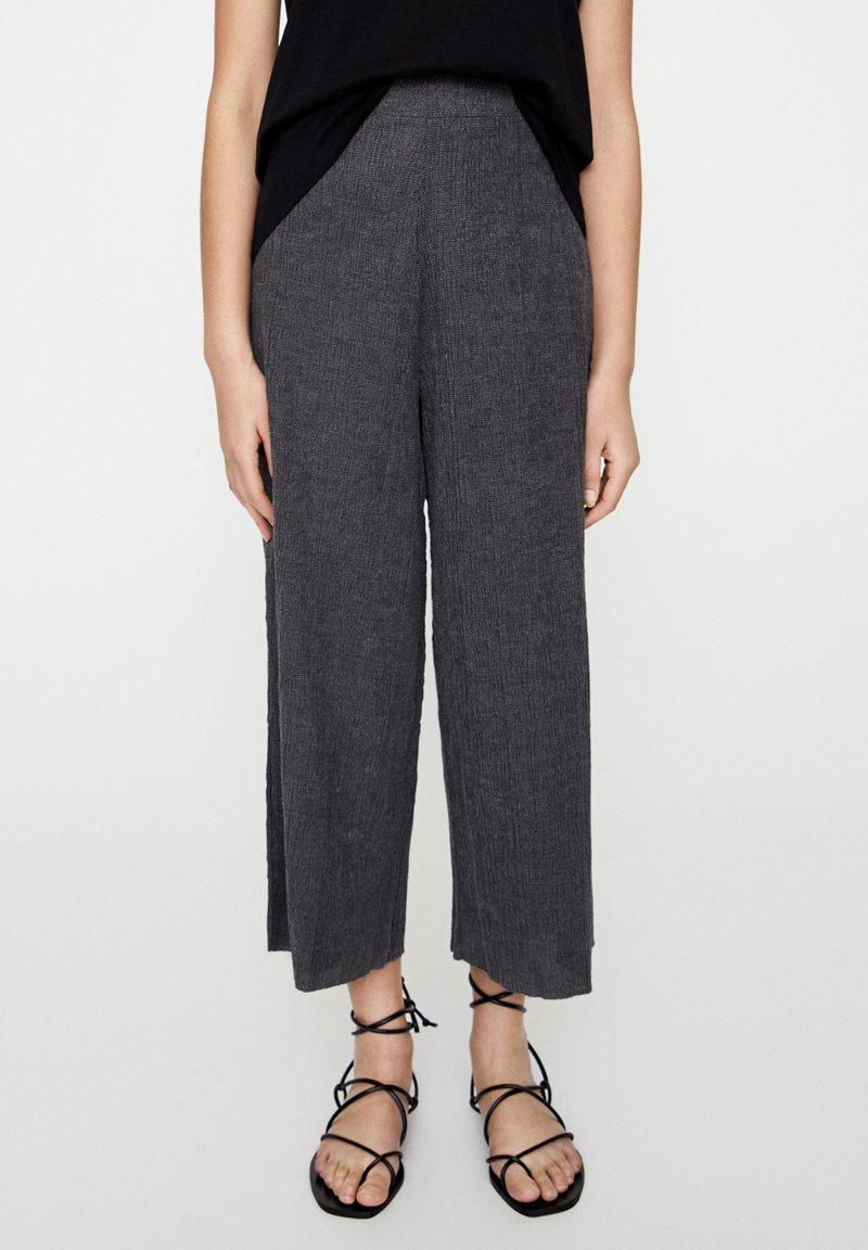PULL&BEAR - Pantaloni - dark grey