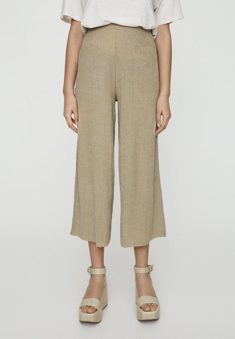 PULL&BEAR - Pantalon classique - khaki