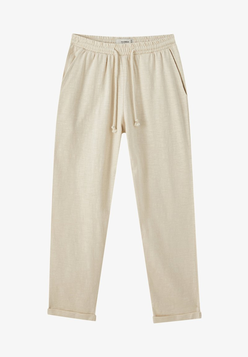 PULL&BEAR - Tracksuit bottoms - beige