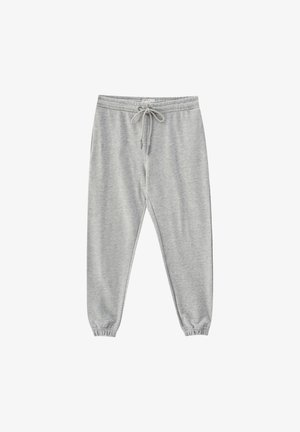 MIT GUMMIZUG AM SAUM - Tracksuit bottoms - light grey