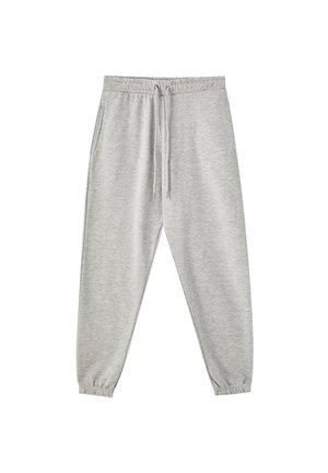 MIT GUMMIZUG AM SAUM - Pantaloni sportivi - light grey
