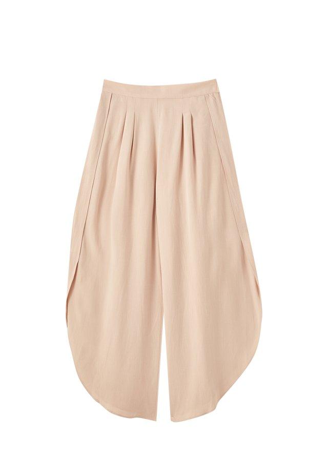 MIT BUNDFALTEN - Spodnie materiałowe - rose gold