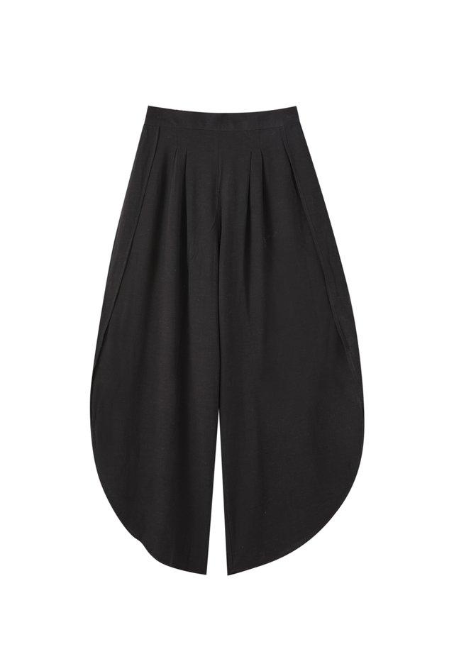 MIT BUNDFALTEN - Spodnie materiałowe - black