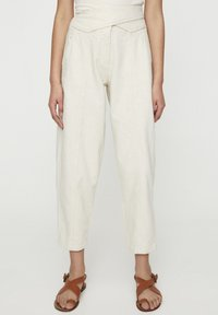 PULL&BEAR - Pantalon classique - beige - 0
