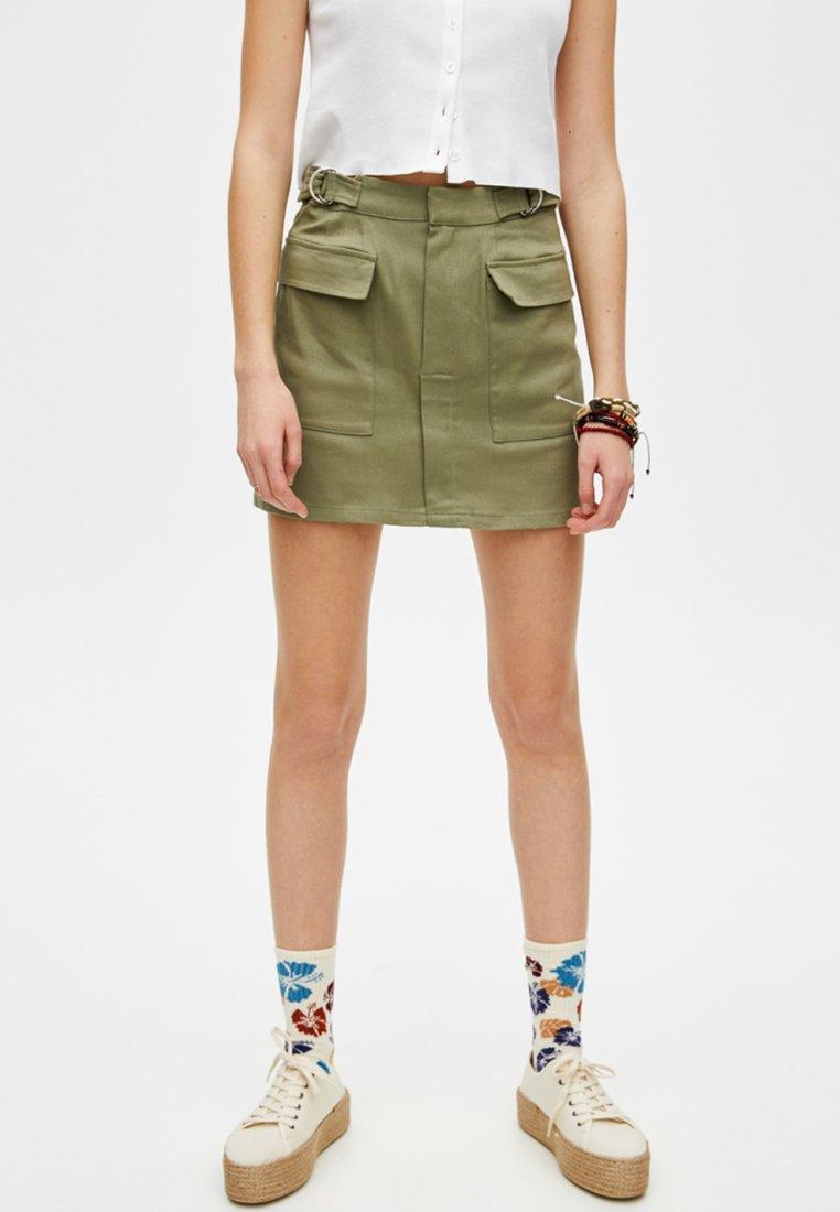 PULL&BEAR - Minirock - khaki