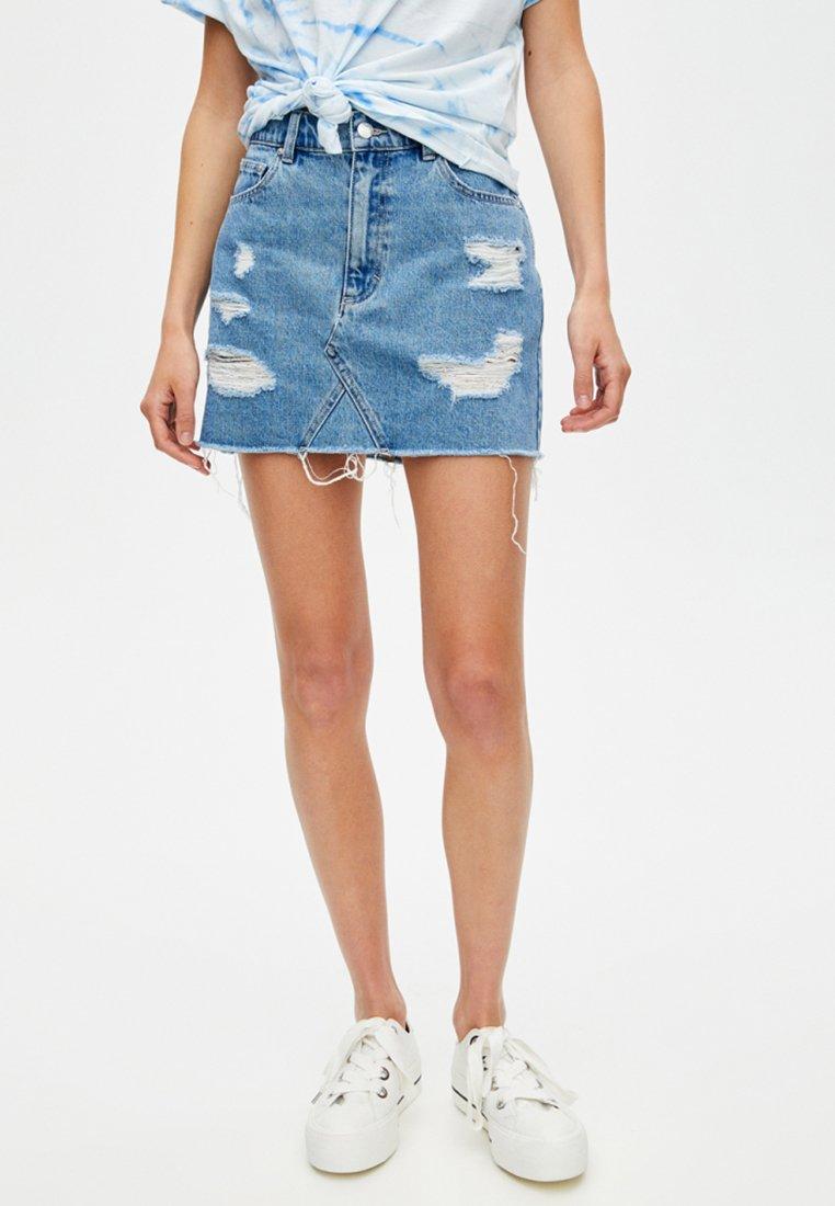 PULL&BEAR - A-line skirt - light blue
