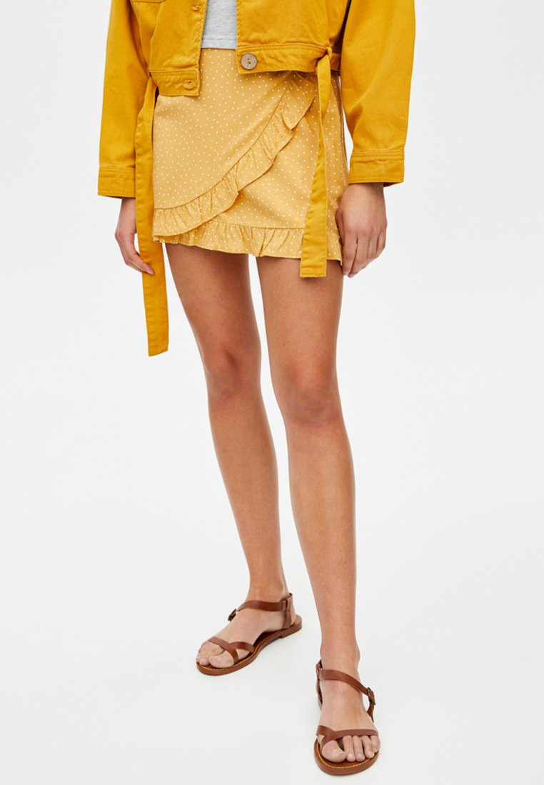 PULL&BEAR - Wickelrock - yellow