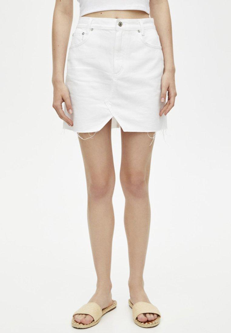 PULL&BEAR - Denim skirt - white