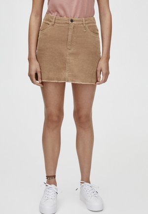IN VERSCHIEDENEN FARBEN - Spódnica trapezowa - brown