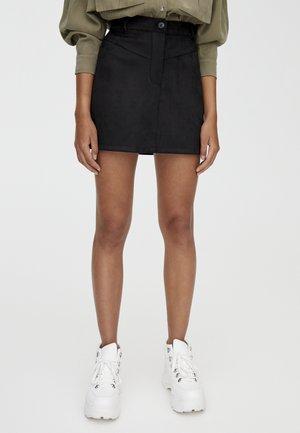 MIT PASSE  - Jupe trapèze - black