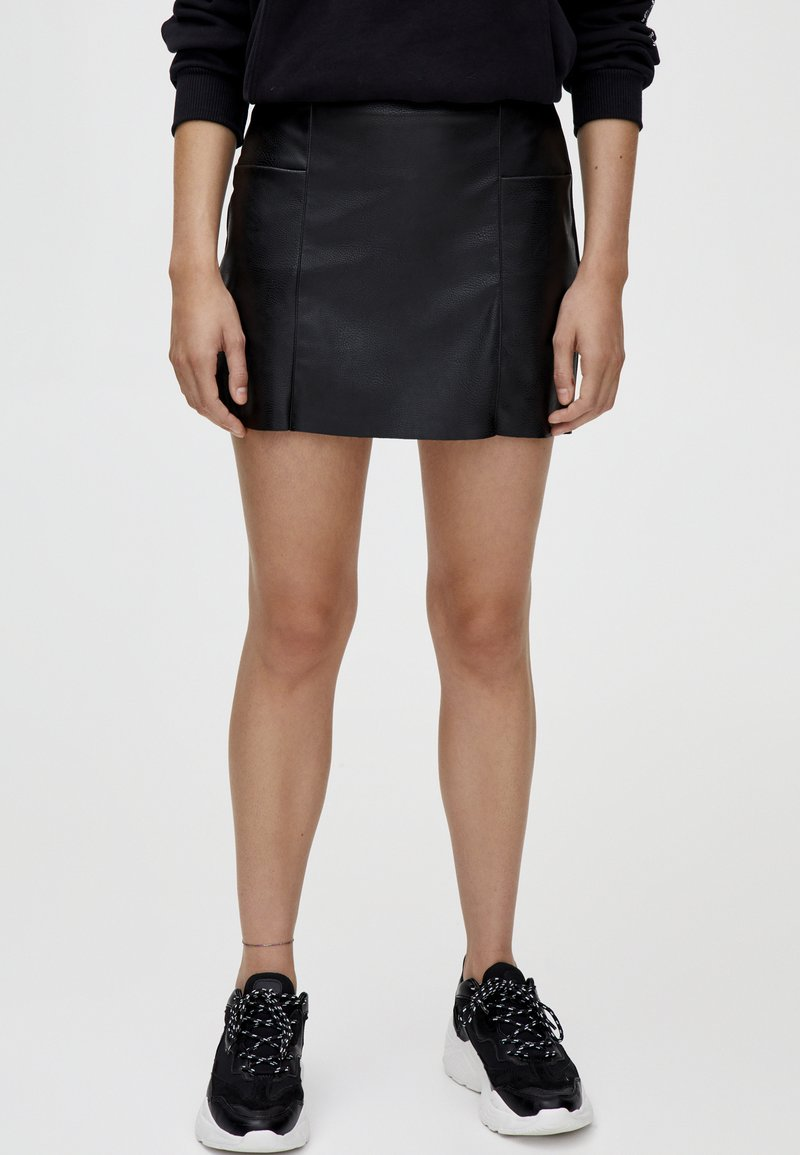 PULL&BEAR - Mini skirt - black