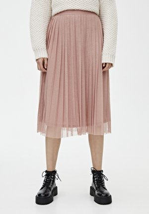 Plisovaná sukně - rose