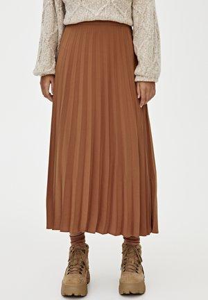PLISSIERTER - A-lijn rok - brown