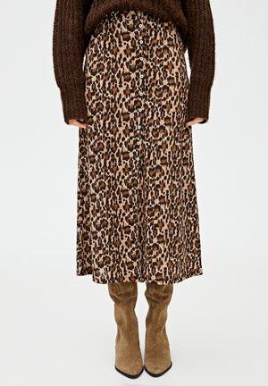 MIT KNÖPFEN - A-snit nederdel/ A-formede nederdele - brown
