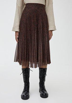 MIT PRINT - Spódnica trapezowa - black