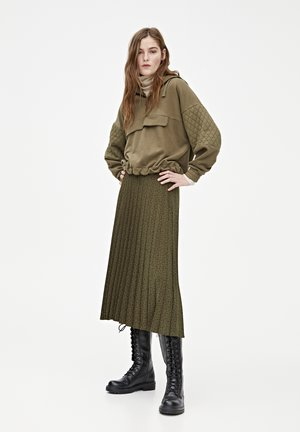 Spódnica trapezowa - dark green