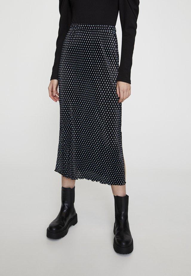 MIT SCHLITZEN  - A-line skirt - blue