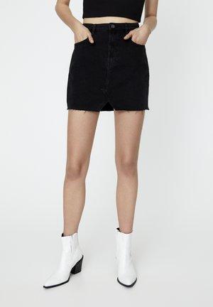 Spódnica jeansowa - mottled black
