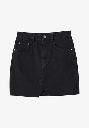 Jeansrok - mottled black