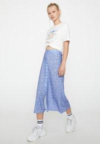 PULL&BEAR - Pleated skirt - blue - 1