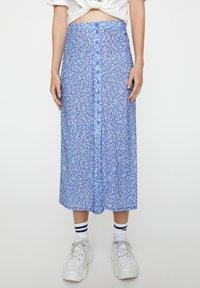 PULL&BEAR - Pleated skirt - blue - 0