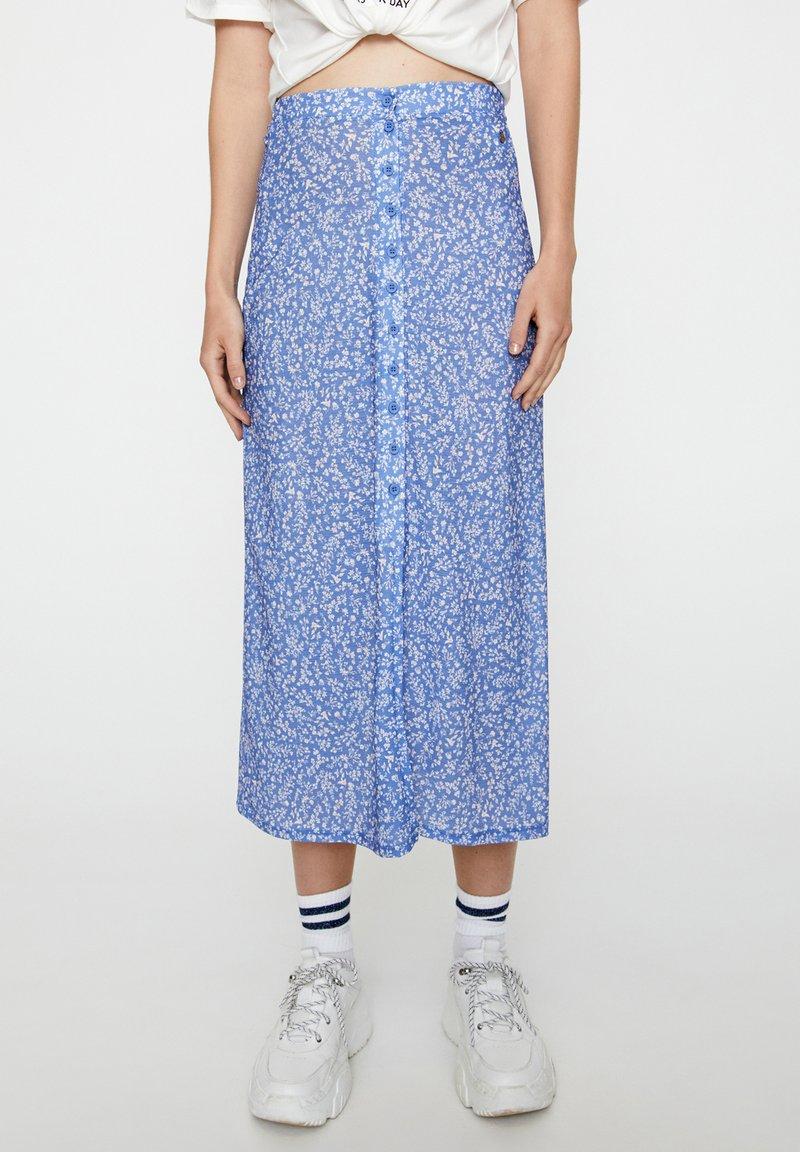 PULL&BEAR - Pleated skirt - blue