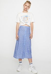 PULL&BEAR - Pleated skirt - blue - 3