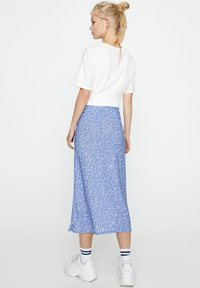 PULL&BEAR - Pleated skirt - blue - 2