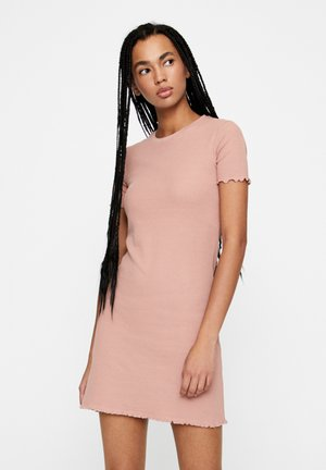 MIT V-AUSSCHNITT - Jumper dress - rose