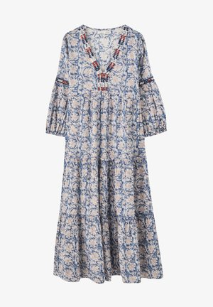 JEANS-LATZKLEID MIT STREIFENPRINT  - Denim dress - blue
