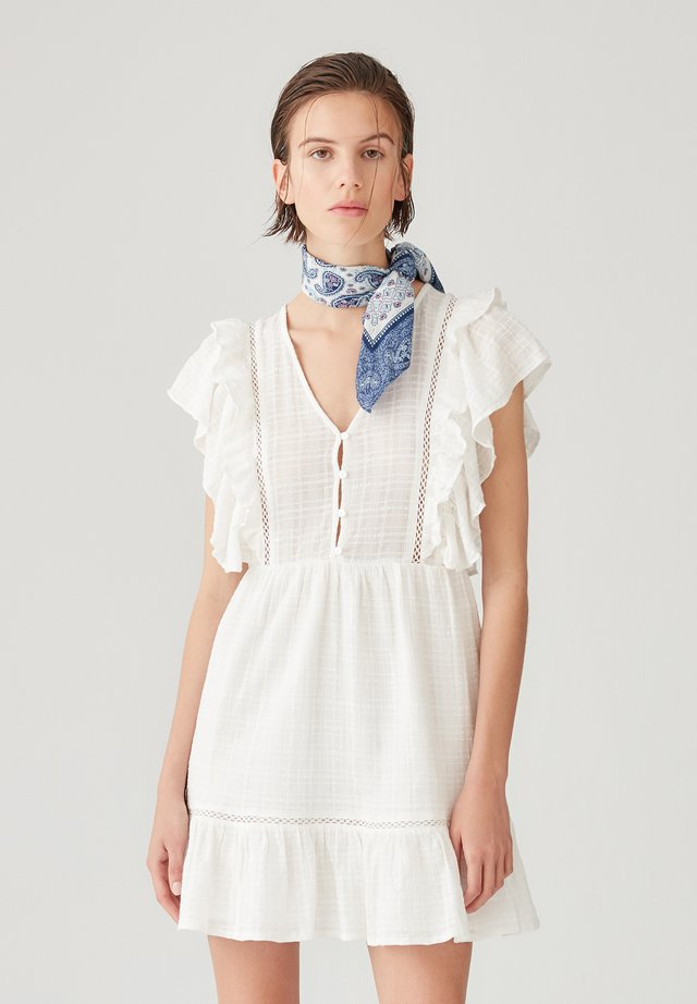 WICKELOPTIK - Korte jurk - white