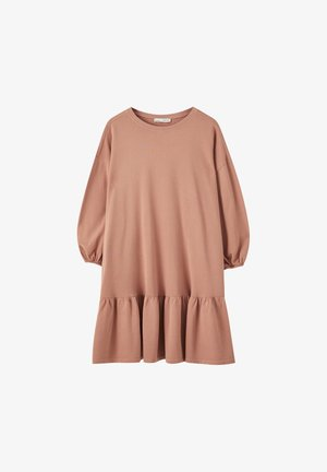 DENIMKLEID MIT V-AUSSCHNITT - Denní šaty - rose